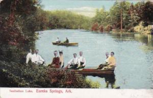 Arkansas Eureka Springs Canoeing On Sanitarium Lake