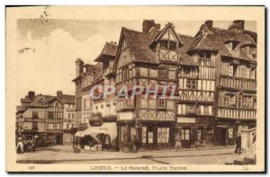 Old Postcard Lisieux Le Marche Place Thiers