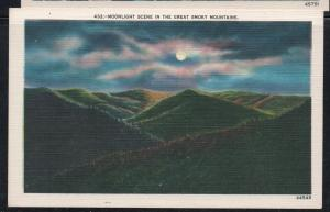Linen colour PC Moonlight Scene in the Great Smoky Mountains unused