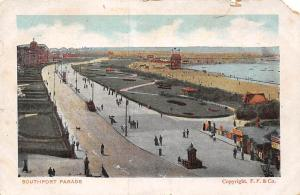 Southport Parade Promenade Plage Beach General view