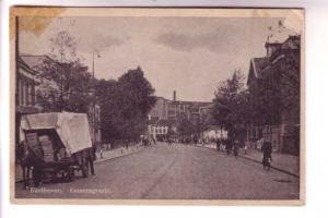 Horsedrawn Covered Wagon on Street, Eindhoven, Netherlands