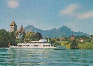 Bern Lotschberg Simpion Simplon Bahn Swiss Sweden Ship Postcard