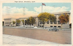 G48/ Alhambra California Postcard 1935 High School Building