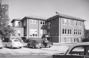 Community High School Gilman Illinois RPC Postcard