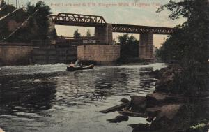 KINGSTON, Ontario, Canada, 1900-1910's; First Lock and G.T.R. Kingston Mills,...