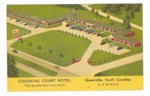 Colonial Court Hotel, Greenville, South Carolina, PU-1955