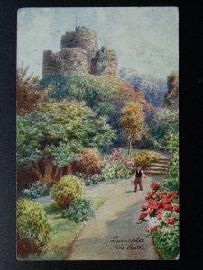 Devon LAUNCESTON The Castle Artist Wimbush c1908 Postcard by Raphael Tuck 7073