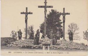 Le Calvaire (XII Station), Mort de Notre-Seigneur, Lourdes, Hautes Pyrenees, ...