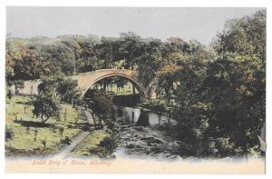 Scotland Ayr Alloway Auld Brig O' Doon GWW Postcard