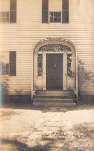 Castine Maine~Doorway of Cate Adams House~1933 Real Photo Postcard~RPPC