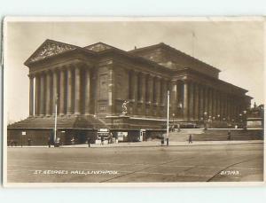 old rppc ST. GEORGE'S HALL Liverpool - Merseyside - England UK HM1940