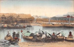 Singapore Native Sampan River Boats Bateaux