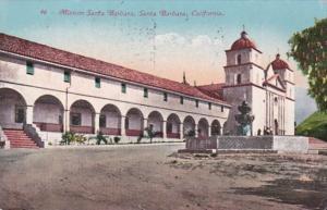California Santa Barbara Mission Santa Barbara 1912