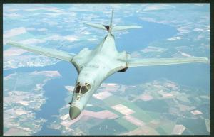 Rockwell B-1B Lancer Super Sonic Bomber Soviet Air Defense Aircraft Postcard