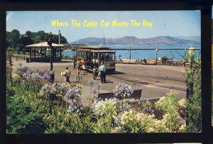San Francisco, California/CA Postcard, Cable Car, Hyde Street, Maritime Park