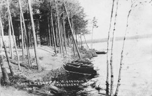 Kahn's Resort on Wisconsin River Tomahawk WI 1927 RPPC Real Photo postcard