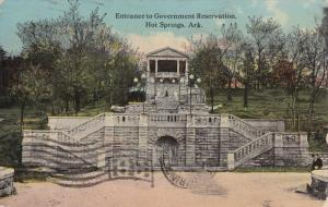 HOT SPRINGS, Arkansas, 1900-1910's; Entrance To Government Reservation