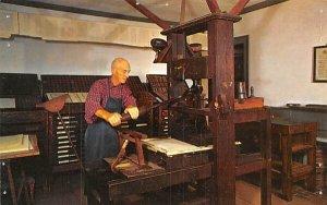 Sturbridge, MA , Massa, Isaiah Thomas Printing Office