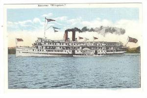 Steamer/Ship Kingston, Canadian Flag, 1930-1940s