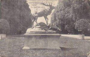 Belgium Tervuren Statue Le Cerf aux abois 1911