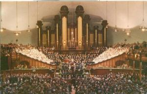 Interior of Mormon Tabernacle, Temple Square, Salt Lake C...
