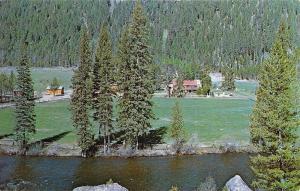 Cascade Idaho~Cox V O Dude Ranch~1960s Postcard