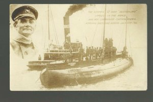 Baltimore MARYLAND RP 1916 U-BOAT TOUR Deutschland Captain Koenig WW1 SUBMARINE
