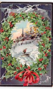 Christmas Post Card Old Vintage Antique Xmas Postcard 1910