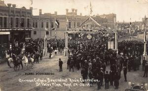 ST. PETER, MINNESOTA GERMAN CATHOLIC CONVENTION, 1911 RPPC REAL PHOTO POSTCARD