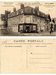 CPA AK DEAUVILLE - sur-MER Café de la Marine (378299)