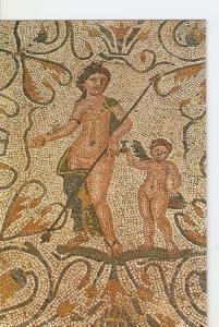 Postal 025057 : Mosaico de Venus y Eros. Casa del Anfiteatro. Merida (Badajoz)
