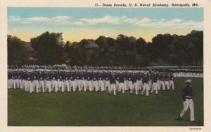 Dress Parade - U.S. Naval Academy - Annapolis MD, Maryland - WB