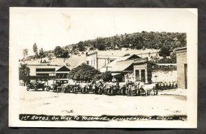dc154 - COULTERVILLE Ca 1955 Autos on Way to Yosemite Real Photo Postcard