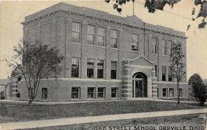 H61/ Orrville Ohio Postcard c1910 Oak Street School Building 125
