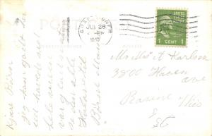 Emmetsburg Iowa~Broadway~National 5&10c Store~Billiards Pool Hall~Cars~1945 RPPC