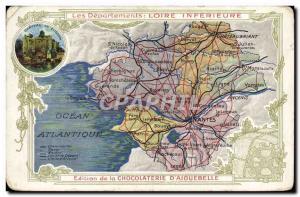 Postcard Old MAPS Chocolaterie d & # 39Aiguebelle Loire Inferieure
