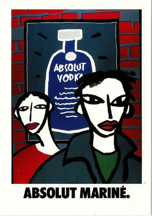 Absolut Marine Mariné Art Vodka Postcard from Italy No. 105