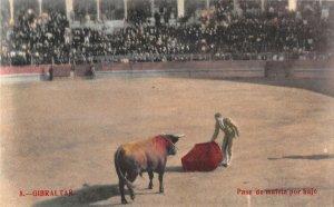 US3093 Spain Gibraltar Bull Fight Postcard corrida