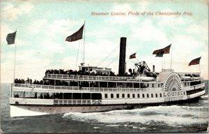 Steamer Louise Chesapeake Bay Maryland VINTAGE postcard - PC