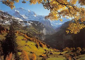 Switzerland Wengen Dorfteil Wengwald und Jungfrau