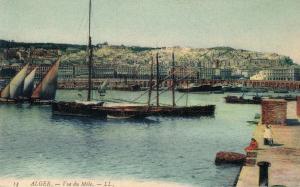 Alger Algerie Vue du Mole 01.91