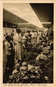 CPA BANDOENG Een kijke op den groeten-Pasar. INDONESIA (169966)