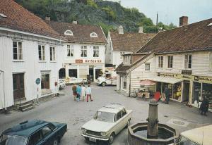 Mandal Norway Matsenter Partymeri Shops Bicycles 1980s Postcard