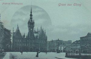 Gruss aus Elbing , Poland, 1890s ; Friedrich Wilhelmplatz