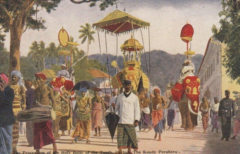 KANDY, Ceylon, Sri Lanka, 00-10s; Holy Tooth procession