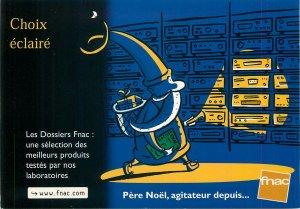 Postcard Advertising poster affiche santa claus gift radio dvd pere noel