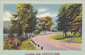 Scenic Greetings from Newton, Mississippi, 30-40s