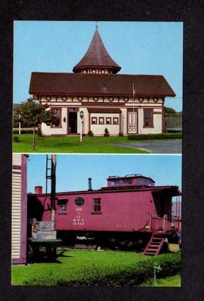 MA Chatham Railroad Train Station Mass Massachusetts Postcard Cape Cod Harwich
