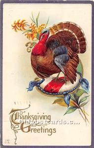 Thanksgiving Old Vintage Antique Postcard Post Card 1913