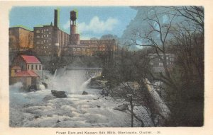 br106619 power dam and kaysers silk mills sherbrooke quebec  canada